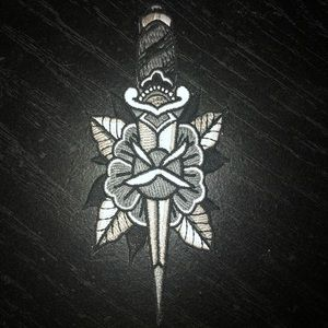 Accessories - 🖤 Dagger and Roses Embroidered Patch Knife 🖤